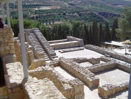 Udsigt over dele af Knossos-paladsen